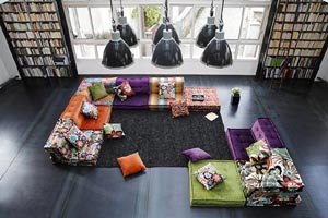 Stylish rooms courtesy of Roche Bobois
