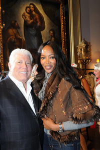 Dennis Basso with client Naomi Campbell