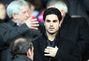 Arteta in a rare pose: as spectator
