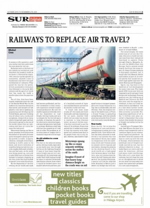 Trains versus planes in Sur in English