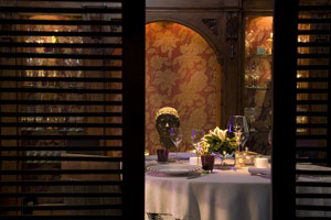 Interior of the exclusive Oyarbide restaurant in Marbella