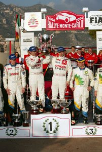 Winners of the 2004 Monaco Rallye