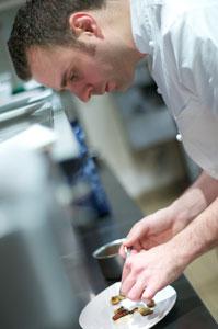 Markus Glocker at work in the kitchen