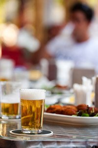 Typical Spanish tapas and beer