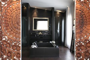Designer sunken bath in Puro Mallorca