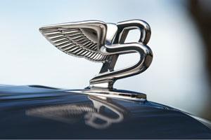 The emblematic Bentley bonnet mascot