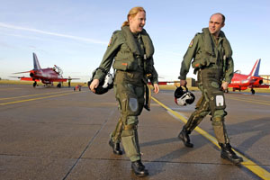 Kirsty Moore, female pilot with the Red Arrows