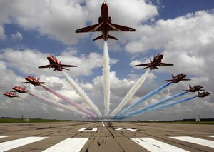 The Red Arrows aerial display team