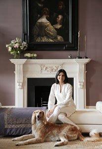 Portrait of Kamini Ezralow, designer with Intarya