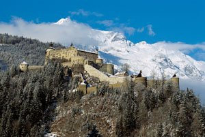 The Obauer is overlooked by Hohenwerfen Castle