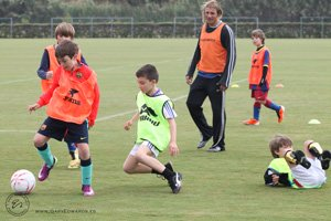 Claudio Caniggia kids football clinic Photo Gary Edwards