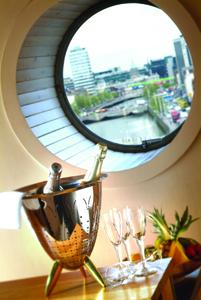 Porthole view of Dublin