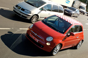 Test driving the Fiat 500