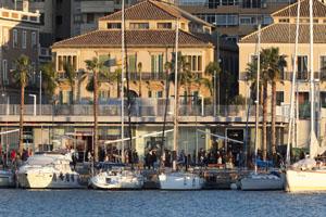 Malaga quayside Muelle Uno
