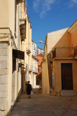 Pastel coloured streets of Calitri