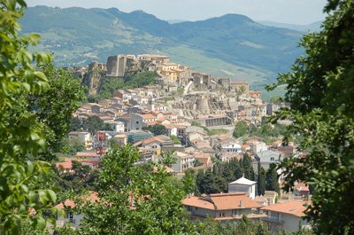 View of Calitri and castle
