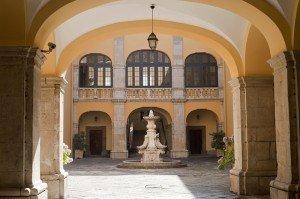 Melfi castle courtyard