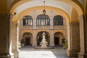 Melfi castle courtyard