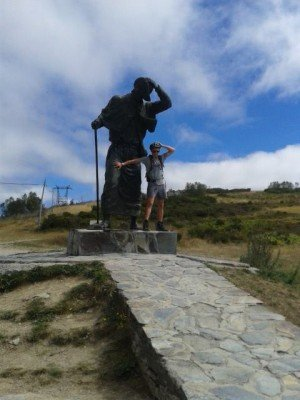 Near the highest point of the Camino